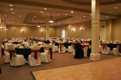 Wedding reception for 115 guests in Ballroom C and D