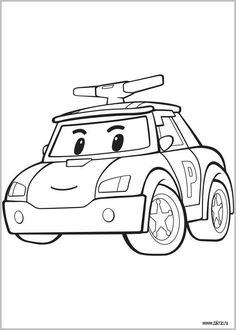 Coloriage Robot Car Polly.32 Best Decore Robbot Car Poly Birthday Images Robocar Poli