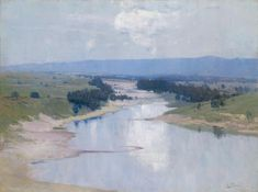 Arthur Streeton, The River, 1896 How To Effectively Use Brushwork In Your Paintings Impressionist Paintings, Seascape Paintings, Your Paintings, Landscape Paintings, Oil Painting For Beginners, Oil Painting Techniques, Australian Painting, Australian Artists, River Painting