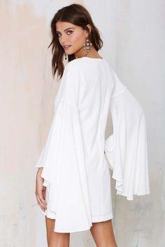 Nasty Gal Hells Bells Crepe Dress - Ivory - Dresses | Going Out | LWD | Dresses