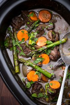 Slow-Cooker Spring Beef Bourguignon  - Delish.com