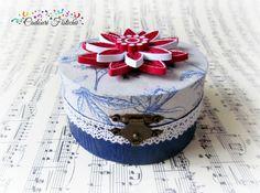 Paper Quilling Handmade Flower Wedding box by CadouriFistichii Wedding Boxes, Wedding Flowers, Paper Quilling, Handmade Flowers, Decoupage, Cake, Etsy, Pie, Kuchen