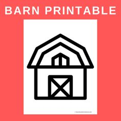 This simple barn printable is perfect to use as a color page or as a template for a farm theme craft. Fall Activities For Toddlers, Autumn Activities, Toddler Art, Toddler Preschool, Preschool Printables, Preschool Crafts, Farm Theme Crafts, Farm Animals Preschool, Kindergarten Classroom Decor
