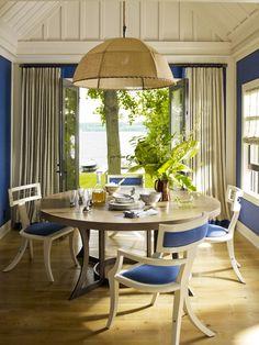 Skaneateles Lake House - Entrance - Dining Room - American Beauty - TF Home for Vanguard-