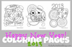 New Year Coloring Pages - Kids Activities Blog