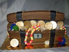 Cake Swimming Pool Treasure Chest