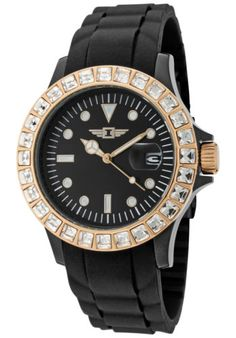 829c0eebd5c I by Invicta 10067-009 Women s White Crystal Black Dial Black Silicone.  Deal Price