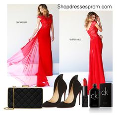 """""""Shopdressesprom.com 2."""" by dajana-miletic ❤ liked on Polyvore featuring Sherri Hill, MICHAEL Michael Kors, Christian Louboutin, Calvin Klein and NARS Cosmetics"""
