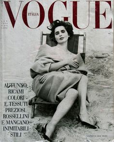 Vogue Italy cover with Isabella Rossellini - September 1989
