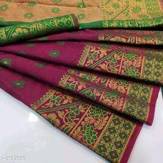 Cotton Saree, Silk Sarees, Banarasi Sarees, Christian Marriage, Fancy Sarees, Jacquard Fabric, New Model, Cod, Free