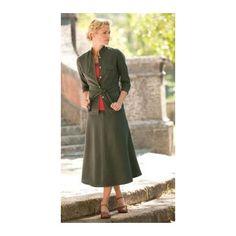 TravelSmith Womens Tencel 5-Button Jacket Green 14 $19.00