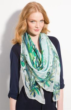 Emilio Pucci 'Estate' Silk Scarf available at #Nordstrom