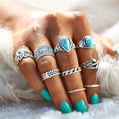 Fashion Rings, Fashion Jewelry, Women Jewelry, Fashion Fashion, Ring Set, Ring Ring, Punk Jewelry, Jewelry Rings, Jewelry Watches