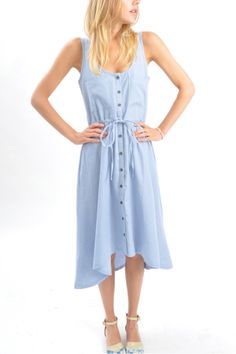 Penelope's - denim tank dress, $75 (summer summer summer)