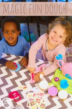 Magic Fun Dough - you can make puzzles with playdough!  Check it out on Kids Activities Blog