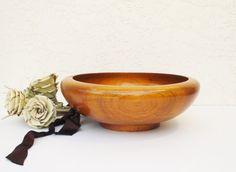 HandTurned Walnut Bowl / Vintage Walnut Bowl by AlegriaCollection, $25.00