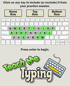 Typing Tutor for Kids. This typing program allows you to pick which keys you want to work on. You can also work your way through guided lessons. Typing Keyboard, Educational Games For Toddlers, Learn To Type, Online Typing, Free Typing, Stem Challenges, Super Powers, Homeschooling, Keys