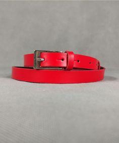 Ζώνη Κόκκινη με Ασημί Τόκα | Vaya Fashion Boutique