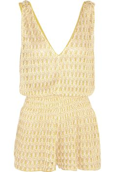 Missoni | Diamantino Rilievo crochet-knit playsuit