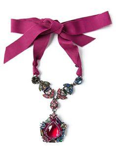 LANVIN - drop pendant necklace 6