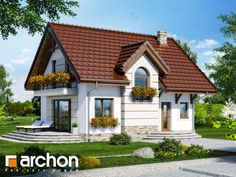 Dom w lukrecji 5 (T) Minimal House Design, Simple House Design, Minimal Home, Small House Plans, House Floor Plans, Building Design, Building A House, House Construction Plan, Small Country Homes