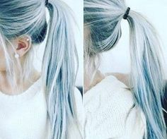 And this pale acid wash perfection. | Denim Hair Is The Latest Hair Color Trend And It's Ridiculously Beautiful