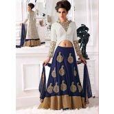 Ws1088-8805/white And Blue A-line Style Lehgha Choli