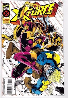 X-Force #41 Dec 1994 Marvel Comic Book X-Men Fun House Cannonball Shatterstar