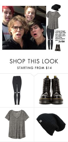 """with 5sos"" by miriam038 ❤ liked on Polyvore featuring Topshop, Dr. Martens and H&M"