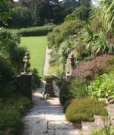 steps to lower terrace at Tapeley Park, North Devon UK http://www.topnotcheventcatering.com