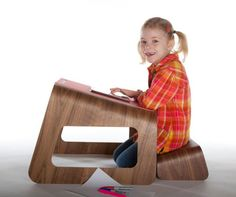 Designed by Ubiquity Design Studio, Knelt™ is a desk and seat that aims for a neutral posture while sitting at it. You know how bad posture can be when you're hovered over your work, think about how bad it was when you were a kid.