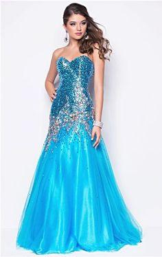 Blush formal blue dress