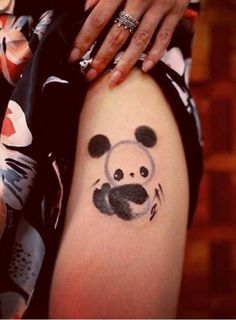 Panda bear tattoo by Chen Jie