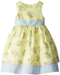 Amazon.com: Laura Ashley London Girls 2-6X Sleeveless Mixed Print Dress: Clothing