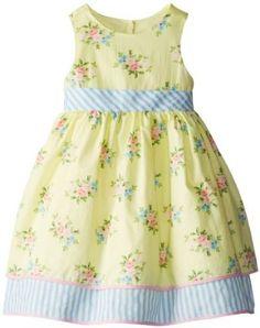 Amazon.com: Laura Ashley London Girls 2-6X Sleeveless Mixed Print Dress: Clothing