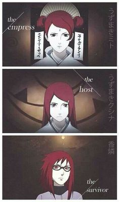 oh my gosh, is Karin the last female uzumaki?!?!????!? <===Nope there's Himawari Uzumaki (Naruto and Hinata's daughter)