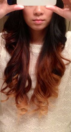 Ombre from black to blonde