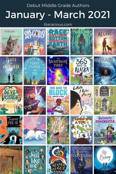 61 Debut Middle Grade Authors in 2021 - January-March