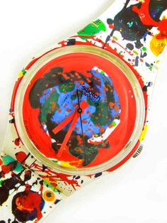 Watch SWATCH Plastic 1992 Sam Francis Limited Edition - GZ123Pack - MarteModena