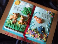 Lion King Finding Nemo Storybook Cake This Cute Birthday Was For cakepins.com