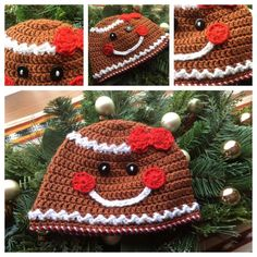 This festive Gingerbread Hat is the best accessory to sweeten your Christmas season. This hat features handmade crocheted detailing and secured button eyes that will put you in the holiday spirit; let me know how I can make this hat perfect for you. Bow on the hat is optional.