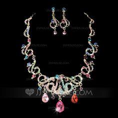 Jewelry - $14.99 - Elegant Alloy With Rhinestone Ladies' Jewelry Sets (011028365) http://jjshouse.com/Elegant-Alloy-With-Rhinestone-Ladies-Jewelry-Sets-011028365-g28365