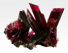 Erythrite crystals / Aghbar, Bou Azzer mining district, Morocco