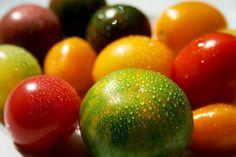 'Es lebe die Vielfalt' auf dem Teller, in der Natur, die Geschmacksvielfalt wie hier die bunte Mischung an #Tomaten. Schön anzusehen und gesund sind sie auch noch :-) // Mein Foto gibt es als Poster, Kunstdruck etc. bei artflakes.com ab $16.63 //