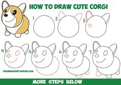 How to Draw a Cute Corgi (Cartoon / Kawaii / Chibi) Easy Step by Step Drawing Tutorial for Kids & Beginners