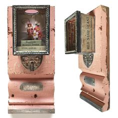 Assemblage Art Gallery on molding strip by Cathe Holden