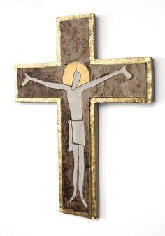 cross 14-4-1 //250€ porcelain, stoneware, gold #sacredart #christianart