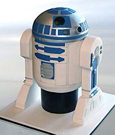 R2-D2 Cake--how to pics