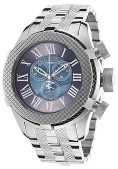 Invicta Men's Bolt Chronograph Stainless Steel Black Mother of Pearl DialInvicta 17431 Watch