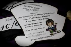 Mad Hatter's Hat Tea Party invite. $6.25, via Etsy.